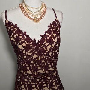 So Fancy Crochet Fit & Flare Dress City Chuc